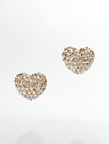 Pav� Heart Earrings