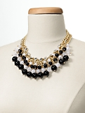Bead-Drop Bib Necklace