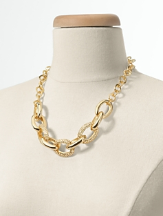 Pav�-Link Necklace