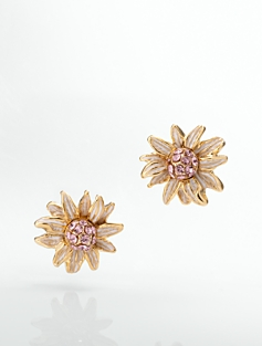Pav� Flower Earrings