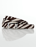 Zebra Haircalf Double-Keeper Belt