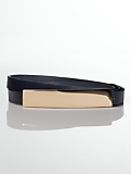 Leather Bar-Buckle Belt