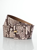 Exotic-Embossed Wide Leather Belt