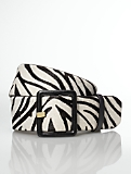 Wide Zebra Haircalf Belt