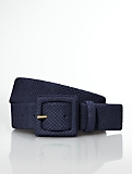 Exotic-Embossed Nubuck Covered-Buckle Belt