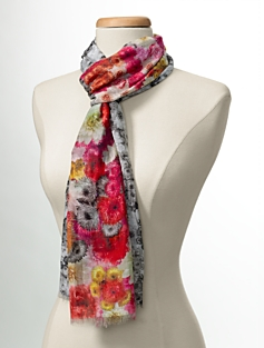 Flower-Blocked Scarf