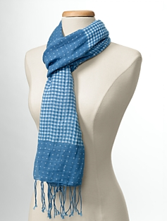 Gingham & Dot Scarf