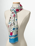 Floating-Floral Scarf