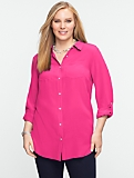 Washable Silk Utility Shirt