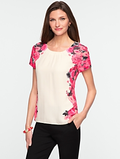 Placed-Floral Top
