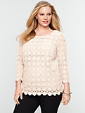 Medallion-Lace Cotton Top