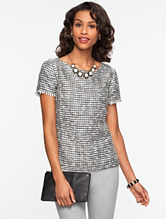 Sparkle Tweed Top