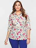 Floating-Floral Cotton Shirt