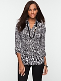 Nantucket Zebra-Print Shirt