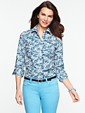 Floral Print Cotton Lawn Shirt