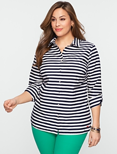 Bold Stripe Cotton Shirt