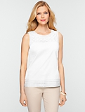 Cotton Eyelet-Bodice Top
