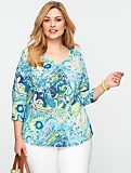 Watercolor Paisley Top
