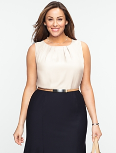 Pleated Bateau Top