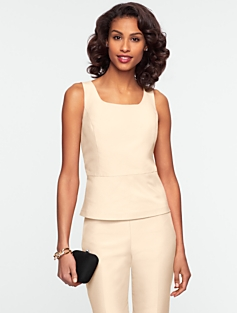Faille Peplum Top