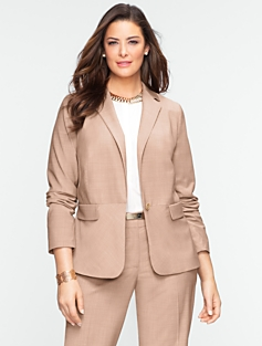 Seasonless Wool Single-Button Jacket