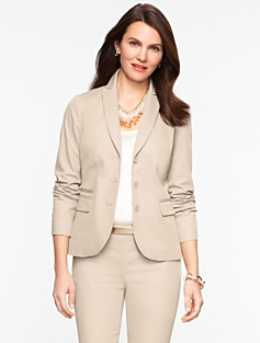 Cotton Viscose Three-Button Jacket