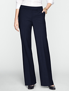 Signature Seasonless Wool Wide-Leg Pants