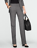 Signature Sharkskin Straight-Leg Pants