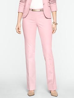Signature Cotton Viscose Straight-Leg Pants