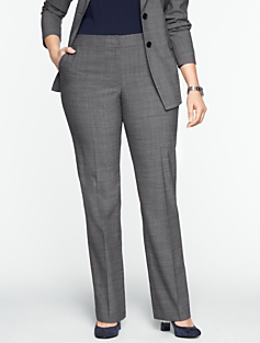 Heritage Sharkskin Straight-Leg Pants