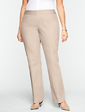Heritage Cotton Viscose Straight-Leg Pants