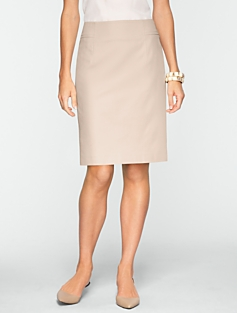 Cotton Viscose Pencil Skirt