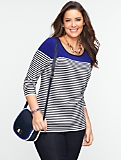 Breton Stripes Back-Keyhole Sweater