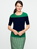 Talbots Merino Gem-Trimmed Sweater