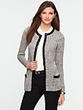 Sparkle Tweed Sweater Jacket