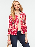 Abstract Floral-Print Cardigan