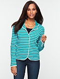 Paradise-Stripe Sweater Jacket