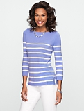 Talbots Cashmere Striped Sweater