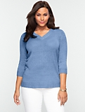 Linen V-Neck Sweater