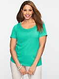 Pima Cotton Rope Scoopneck Tee