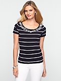 Striped Rope Scoopneck Tee