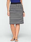 Stretch Weekend Terry Striped Skirt