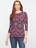 Calico Paisley Balletneck Top