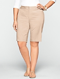 "11"" Polished Sateen Bermuda Shorts"