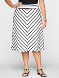 Chevron-Stripe Skirt