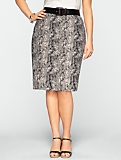 Animal-Jacquard Skirt