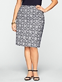 Leaf & Flower-Link Pencil Skirt