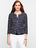 Striped Basketweave Jacket