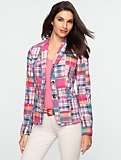 Pink Madras Plaid Jacket