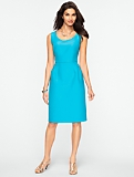 Faille Scoopneck Dress